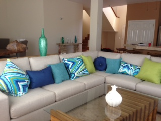 Comfortable and spacious living room at Divers Inn MX