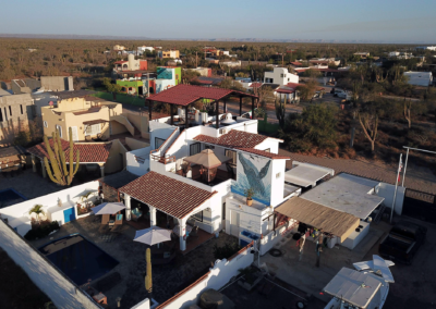 Aerial view of Divers inn MX in la Paz BS Mexico